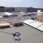 13 april 2015 - Installatie zonnepanelen dak werkplaats