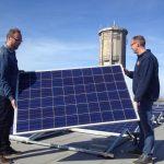 20 april 2015 - Het laatste zonnepaneel
